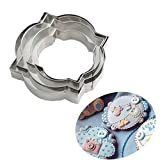 Plaque Frame Cookie Cutter 4Pcs/Set, Stainless Steel Pastry Biscuit Cookie Cutter Set Fondant Pancake Cutters Mold (Style 4)
