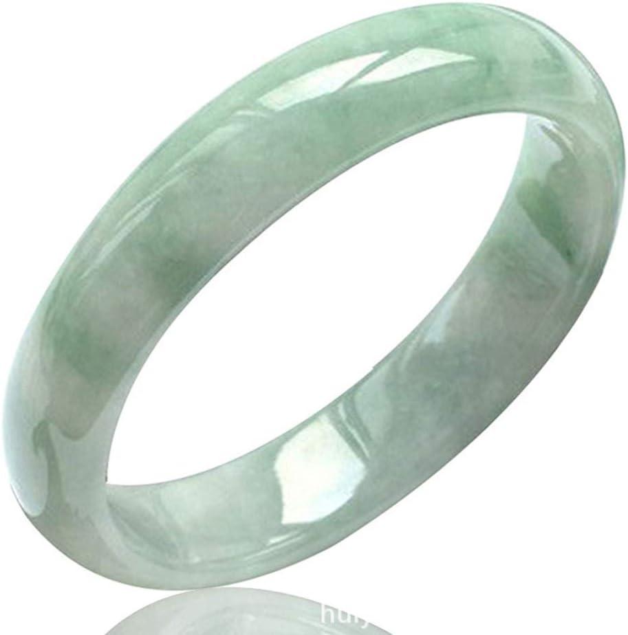 AlonSwallow Brazalete De Jade para Mujer Pulsera De Jade Natural Joyas Brazalete De Piedras Preciosas De Color Verde Claro Joyas con Joyero De Gama Alta