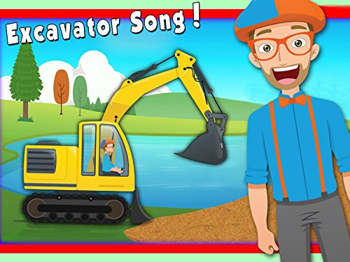 Excavator Song by Blippi - Construction Trucks for Children