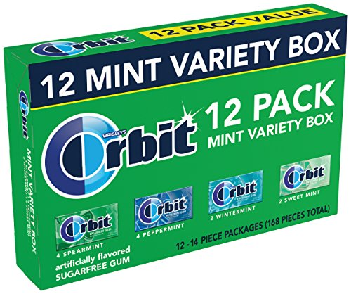 Orbit Sugarfree Gum, Mint Variety Box, 12 packs