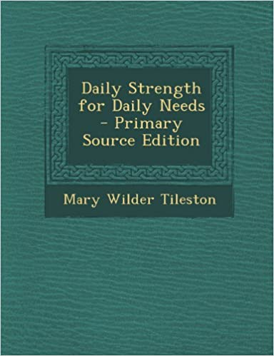 Book Daily Strength for Daily Needs