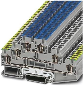 Reihenklemme Schutzleiterklemme PT2.5 Durchgangsklemme Blau Grau PE