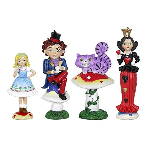 (ShopForAllYou Figurines and Statues My Fairy Gardens Mini - Alice in Wonderland Gardening Kit - Set of 4 - Supplies)