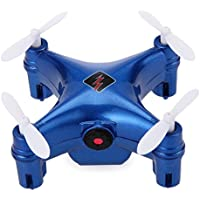 Remote-controlled Rechargeable Mini Set Height Wifi Quadcopter Pocket Drone with Wifi HD Camera (blue)
