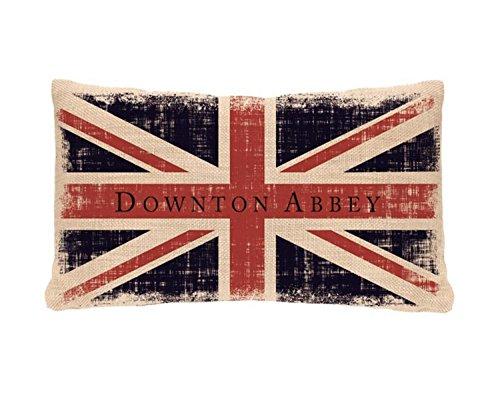 "20"" Downton Abbey British Union Jack Decorative Rectangular"