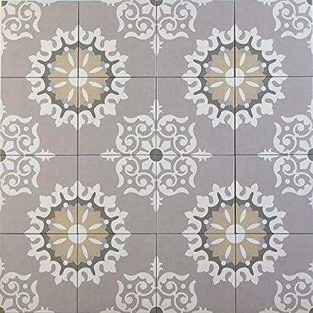Casa Moro Carrelage Sol Et Mur Oriental Marocain 20 X 20 Cm En Gres De Cerame Genna Fl7019 Amazon Fr Bricolage