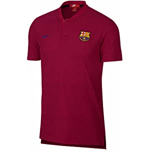 21dae6f38 Nike 2018-2019 Barcelona Authentic Polo Football Soccer T-Shirt Jersey  (Noble Red