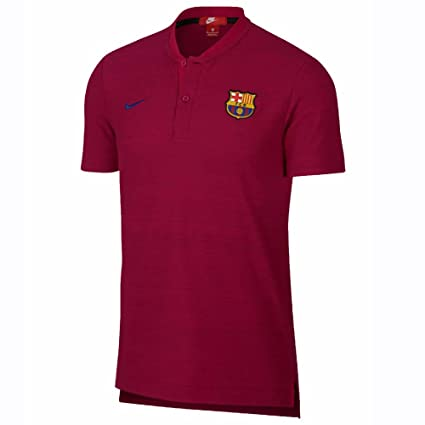 1244fe25b2fb Image Unavailable. Image not available for. Color  Nike 2018-2019 Barcelona  Authentic Polo Football Soccer T-Shirt ...
