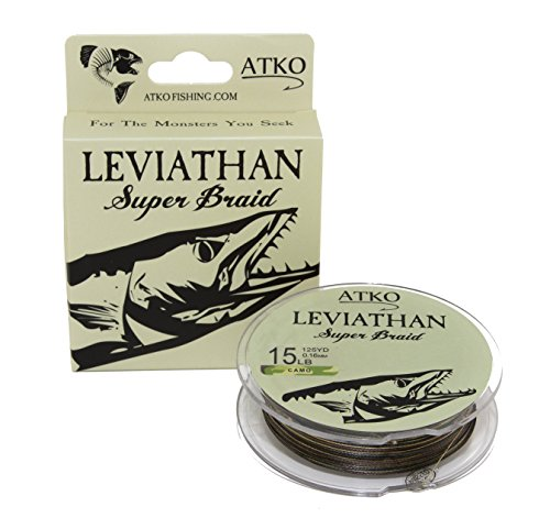 Atko Leviathan Braided Fishing Line- Premium Performance Super Braid (Camo, 15lb/125yd)