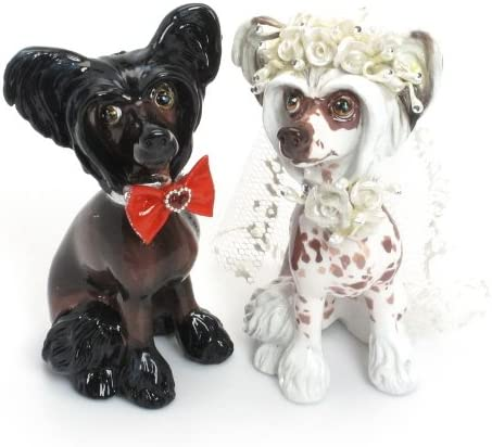 Chinese Crested Figurine Hand Painted Collectible Statue
