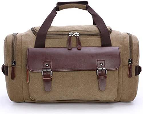 Duffle Bag Canvas Travel Bag Big Capacity Carry on Weekend Bag for trip