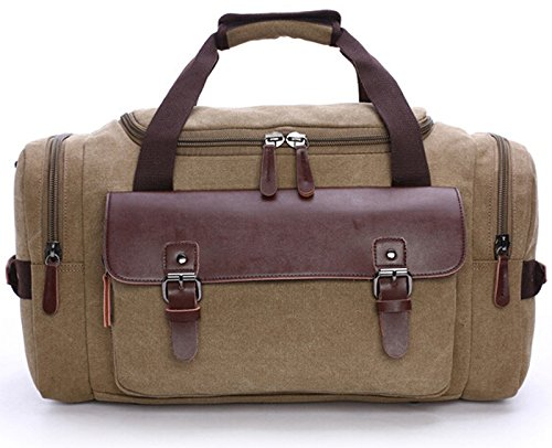 Duffle Bag Canvas Weekend Bag Large Capacity Durable Travel Tote Luggage Bag for trip,gym,business