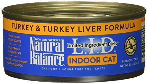 Natural Balance Ltd Ingredient Diets Wet Cat Food, Turkey & Turkey Liver Formula, 5oz Can, 24 Pack by Natural Balance
