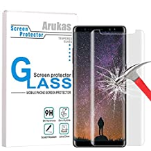 Galaxy Note 8 Screen Protector Glass, Arukas 3D Curved Edge Ultra Clear 9H Hardness Case Friendly (Easy Installation) Glass, Bubble-Free Anti-Scratch For Samsung Galaxy Note 8 (1 pack)