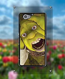 Cartoon Shrek Funda Case For Sony Z2 Compact, Kawaii Simple Exclusive Style Drop Protection Cool + Slim Fit Compatible with Sony Xperia Z2 Compact [Just fit for Z2 Compact]