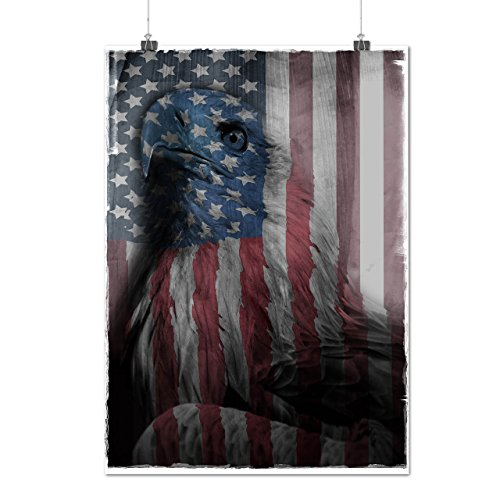 American Eagle Glory US Flag Matte/Glossy Poster A2 (60cm x 42cm) | Wellcoda Queen Elizabeth Coat Of Arms