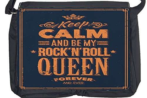 Borsa Tracolla Divertimento Keep Calm Rock n Roll Stampato