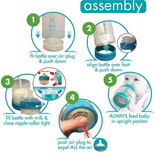 Bare Air-Free Feeding System, Starter Set With Perfe-Latch Nipple For Bottle-Fed Babies by Bittylab (Image #2)