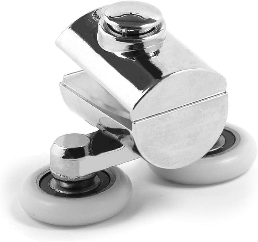 Zinc Alloy Twin Top Bottom Shower Door Wheels Rollers High Runners Quality Y6J1