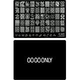Gogoonly Nail Art Stamp Plate Collection St. Happy - Huge Size Stamping Image Plates Manicure Nail Designs DIY - BH000461