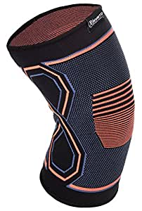 Kunto Fitness Knee Brace Compression Support Sleeve for Sports, Arthritis, Joint Pain, Injury Recovery and More! (Small)