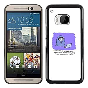 // PHONE CASE GIFT // Duro Estuche protector PC Cáscara Plástico Carcasa Funda Hard Protective Case for HTC One M9 / Comic Divertido /