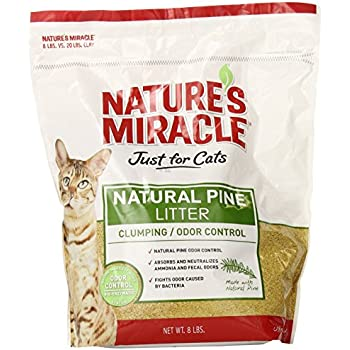Nature's Miracle Natural Pine Clumping Litter, 8-Pound (P-5362)