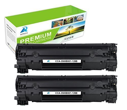 Aztech 2Pack 2,100 Pages Yield Compatible Toner Cartridge Replaces Canon 128 Canon Cartridge 128 (3500B001AA) Used For Canon LBP6200 6230d imageClass MF4550 MF4570 MF4890dw D520 D530 D550