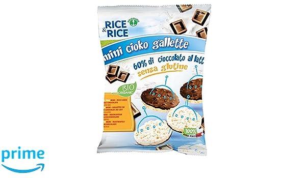 Probios Rice&Rice Mini Galletas de Arroz con Chocolate con Leche - Paquete de 10 x 60 gr - Total: 600 gr: Amazon.es: Alimentación y bebidas