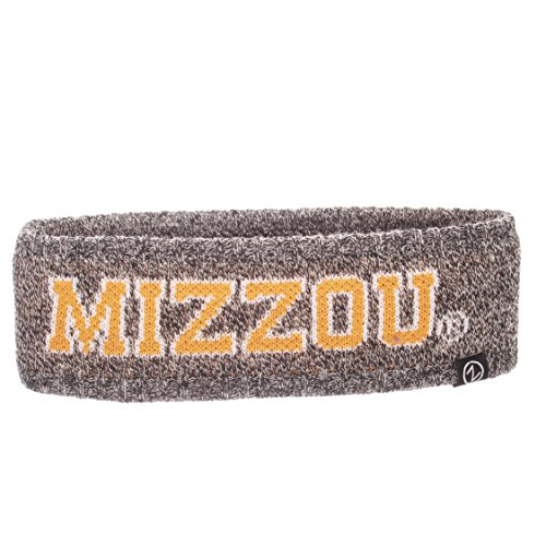 Zephyr NCAA Missouri Tigers Adult Women Halo Haze Knit Headband, Adjustable, Heathered Charcoal ()