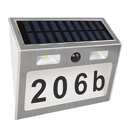 Occitop - Lámpara Solar LED Impermeable con Sensor de Movimiento para Exteriores