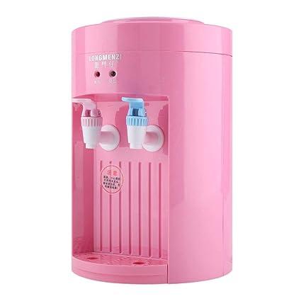 Dispensador de agua - Mini escritorio eléctrico de carga superior Máquina de dispensador de agua hirviendo 220V azul rosado (Color : Rosado)