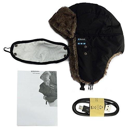 7c57d41bd41a5 YoCoo Washable Bluetooth Russian Style Winter Ear Flap Hat w  Built in  Wireless Stereo Speaker