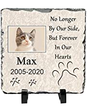 Custom Pet Memorial Stone,Pet Remembrance,Personalized Dog or Cat Photo Slate,15cmX15cm Slate Picture,Bracket Included