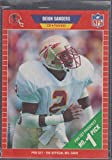 1989 Pro Set Deion Sanders Falcons Rookie Football Card #486