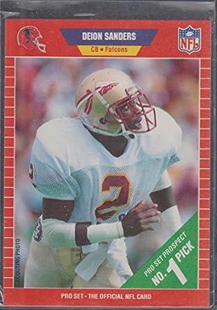 1989 Pro Set Deion Sanders Falcons Rookie Football Card 486