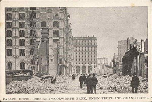 Palace Hotel, Crocker-Woolworth Bank, Union Trust and Grand Hotel Original Vintage -