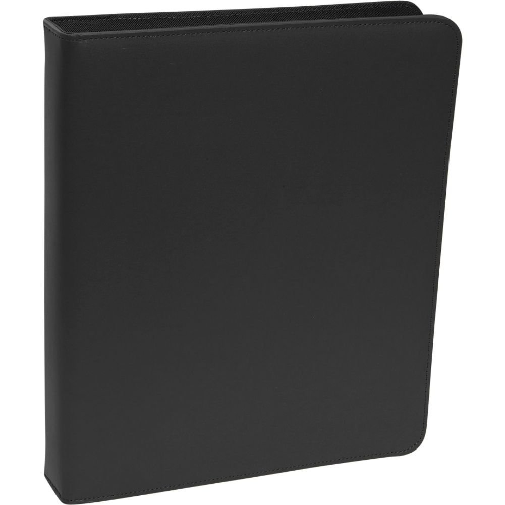 Royce Leather 1 Inch Ring Binder, Black
