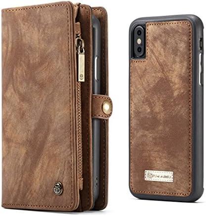 iphoneX/iphoneXsケース 財布型 ケース 手帳型 TPU 本革 レザー カバー 落下防止 防指紋 カード収納 大容