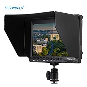 Feelworld FW74K Ultra HD 7 Inch 1280x800 IPS Screen Camera Monitor, Support 4K UHD with Power Adapter for Panasonic GH4 Sony A7S FS7 DSLR Camera with HDMI Outputs