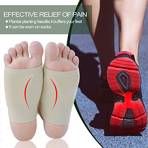 Povihome Gel Arch Foot Support Cushion for Plantar Fasciitis & Flat Feet, Silicone Foot Support for Relief Foot Pain - 2Pair by Povihome (Image #6)