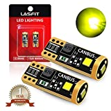 LASFIT 400 Lumens 194 LED Light Bulb, Extremely Bright T10 168 2825 W5W Wedge 3030 Chipsets Error Free for Car Interior Dome Map Door Courtesy License Plate Lights, 12-24V, Gold Yellow(Pack of 2)