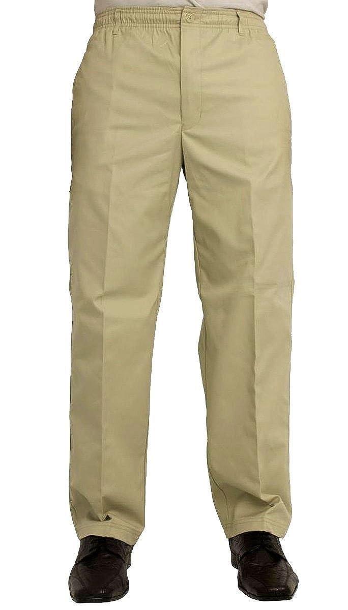 TALLA 32W / 27L. Pantalón informal para hombre (cintura elástica, talla XS, tamaño de la cintura: 81,2-152,4cm)