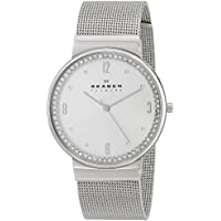 Skagen SKW2152 Ancher Crystal-Accented Women's Stainless Steel Mesh Watch