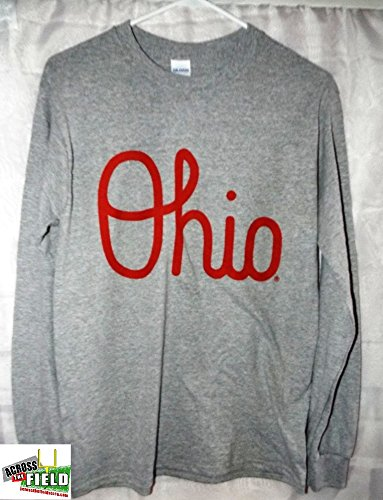 【ネット限定】 Ohio State 3L B01N1NXPUH BuckeyesスクリプトOhioロングスリーブTシャツグレー 3L State B01N1NXPUH, コシノムラ:5a4ed733 --- a0267596.xsph.ru