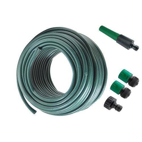 Tubo per irrigazione giardino 10 metri con accessori da 3/4' - Colore Verde