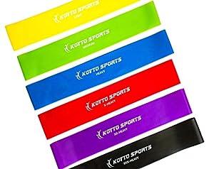 Widerstandsbänder - Premium Set aus 6 Resistance Fitnessbänder Übungsbänder...