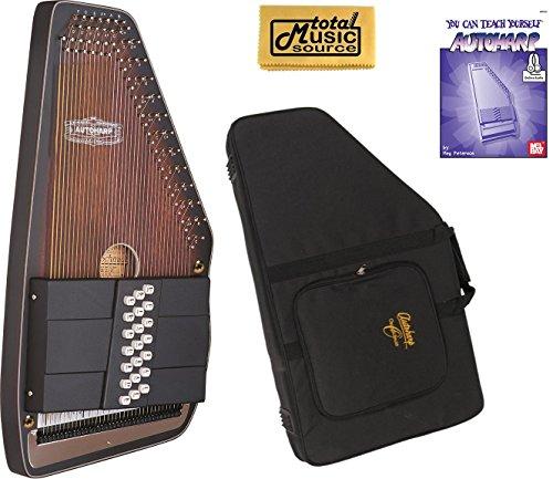 Oscar Schmidt 21 Chord Electric Autoharp, Solid Spruce Back, Satin, OS11021AE by Oscar Schmidt