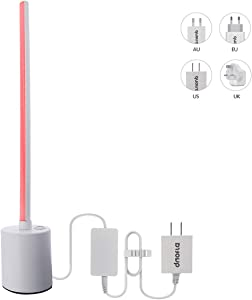 Quotra Wireless ZigBee Smart RGB WW Hue Compatible LED Line Desk Table Lamp,HUB Required:Hue,Echo Plus,Compatible with Alexa,Google Home.Better Than WiFi