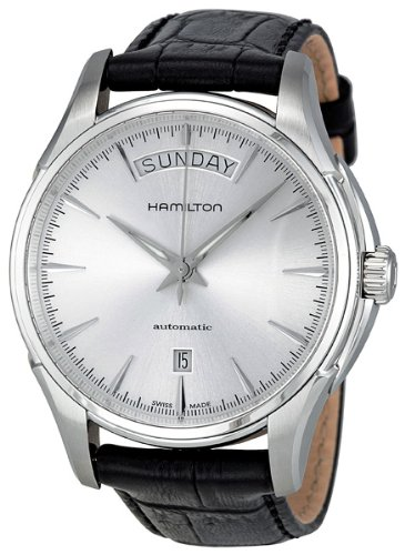 Hamilton Men's H32505751 Jazzmaster Analog Display Swiss Automatic Black Watch